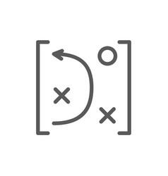 Game tactics scheme line icon vector