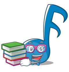 Geek music note character cartoon vector