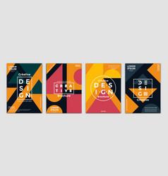 geometric brochure design vector image