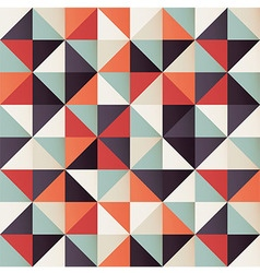 Geometric seamless pattern with colorful triangles vector image