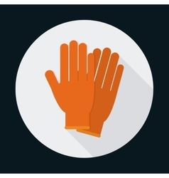 Gloves security safety icon graphic vector