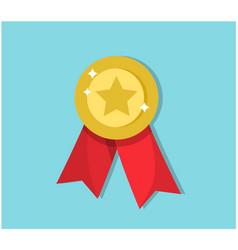 golden bright award for winner vector image