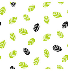 greenery leaves seamless pattern vector image