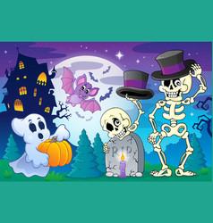 halloween topic scene 5 vector image