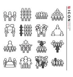 Icon community set icon design set vector