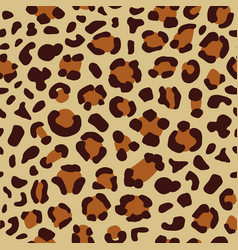 leopard seamless print vector image