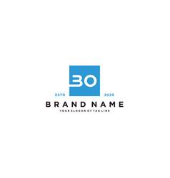 Letter bo logo design vector