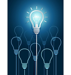 light bulb ideas3 vector image