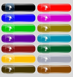 Loader Icon sign Set from fourteen multi-colored vector