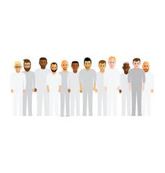 Men in a line vector