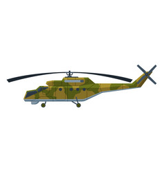 Military camouflage helicopter heavy special vector