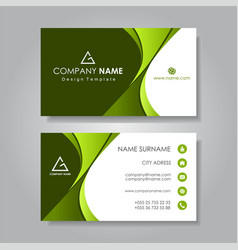 Modern business card template flat design vector