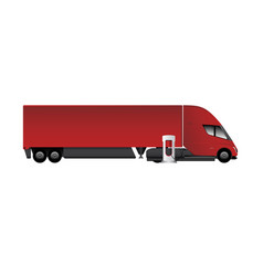modern electric truck vector image