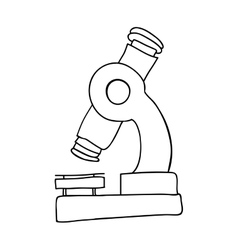 Monochrome contour of microscope tool vector