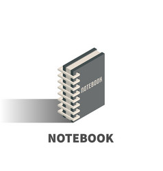 notebook icon symbol vector image