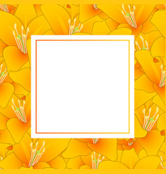 Orange lily banner card vector