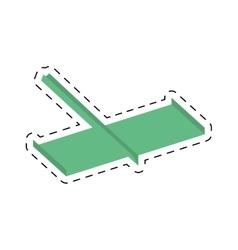 Paper plane style modeling light cut line vector