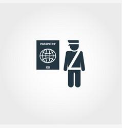 Passport control creative icon simple element vector