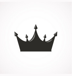 princess crown icon in flat style eps10 vector image