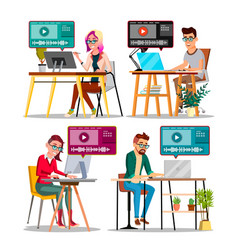 professional character editor working set vector image