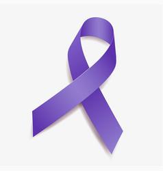 Purple ribbon awareness vector