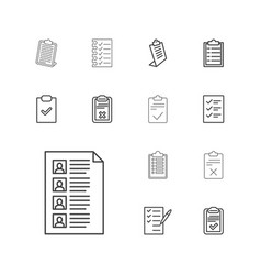Questionnaire icons vector