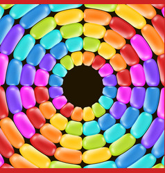 Rainbow swirl backdrop with bright colors vector