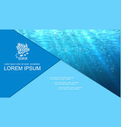realistic underwater blue clean background vector image