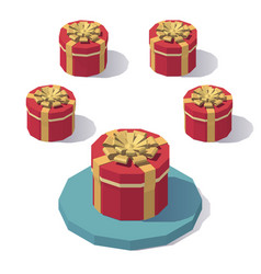 round gift box with lid vector image
