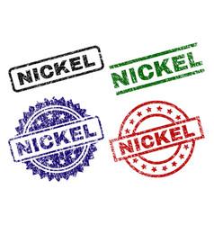 Scratched textured nickel stamp seals vector