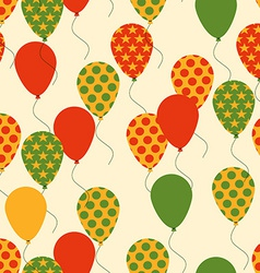 Seamless Pattern with Colorful Balloons Background vector image