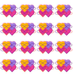 Seamless pattern with symbols polyamory vector