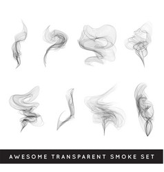 set of digital realistic smoke vector image