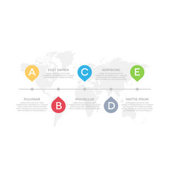 set yellow and red blue green elements vector image