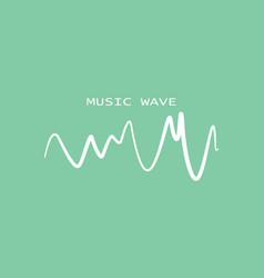 Sound bannerwhite logo equalizer vector