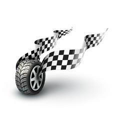Sport racing wheel with vector