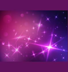stars space violet background vector image