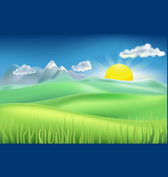 Summer time field vector