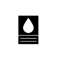 tank oil icon on white background can be used vector image
