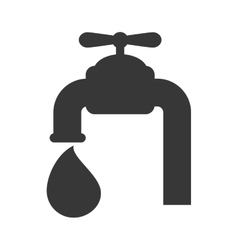tap drop water icon graphic vector image