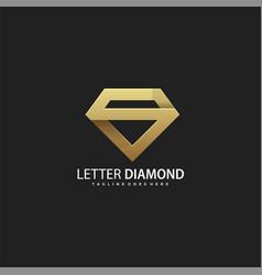 Template luxury diamond letter s concept vector