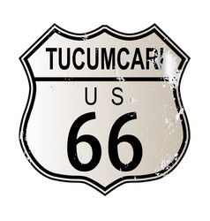 Tucumcari route 66 vector