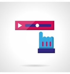 Video rewind color icon vector