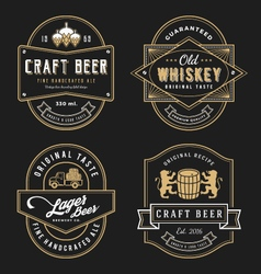 Vintage frame design for labels banner vector image