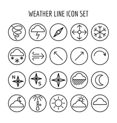 Weather line icon set vector image vector image