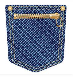 Zipper pocket vector