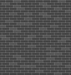 Black brick wall seamless pattern vector image