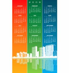 city calendar vector image