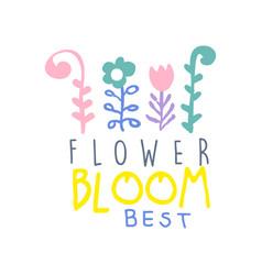 flower bloom best logo template element for vector image vector image