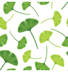 leaves of ginkgo bilboa seamless vector image